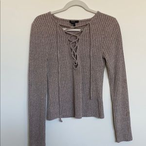 NWT Tie up super soft long sleeve shirt